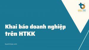 Khai bao thong tin doanh nghiep tren HTKK